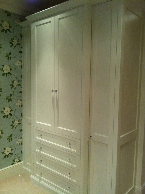wood wardrobe painted