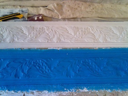 restore Lincrusta frieze