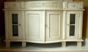 Detailing enhanced with antique glaze