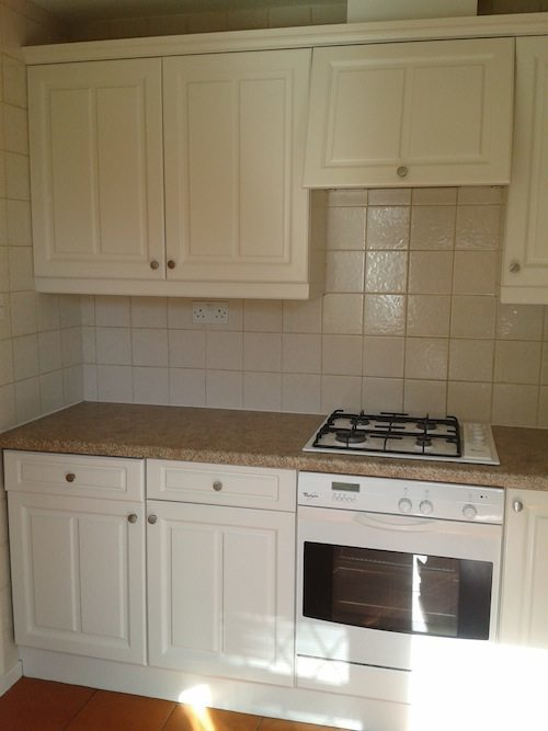oil eggshell painted kitchen