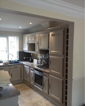 handpainted kitchen after