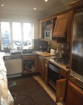 handpainted kitchen before