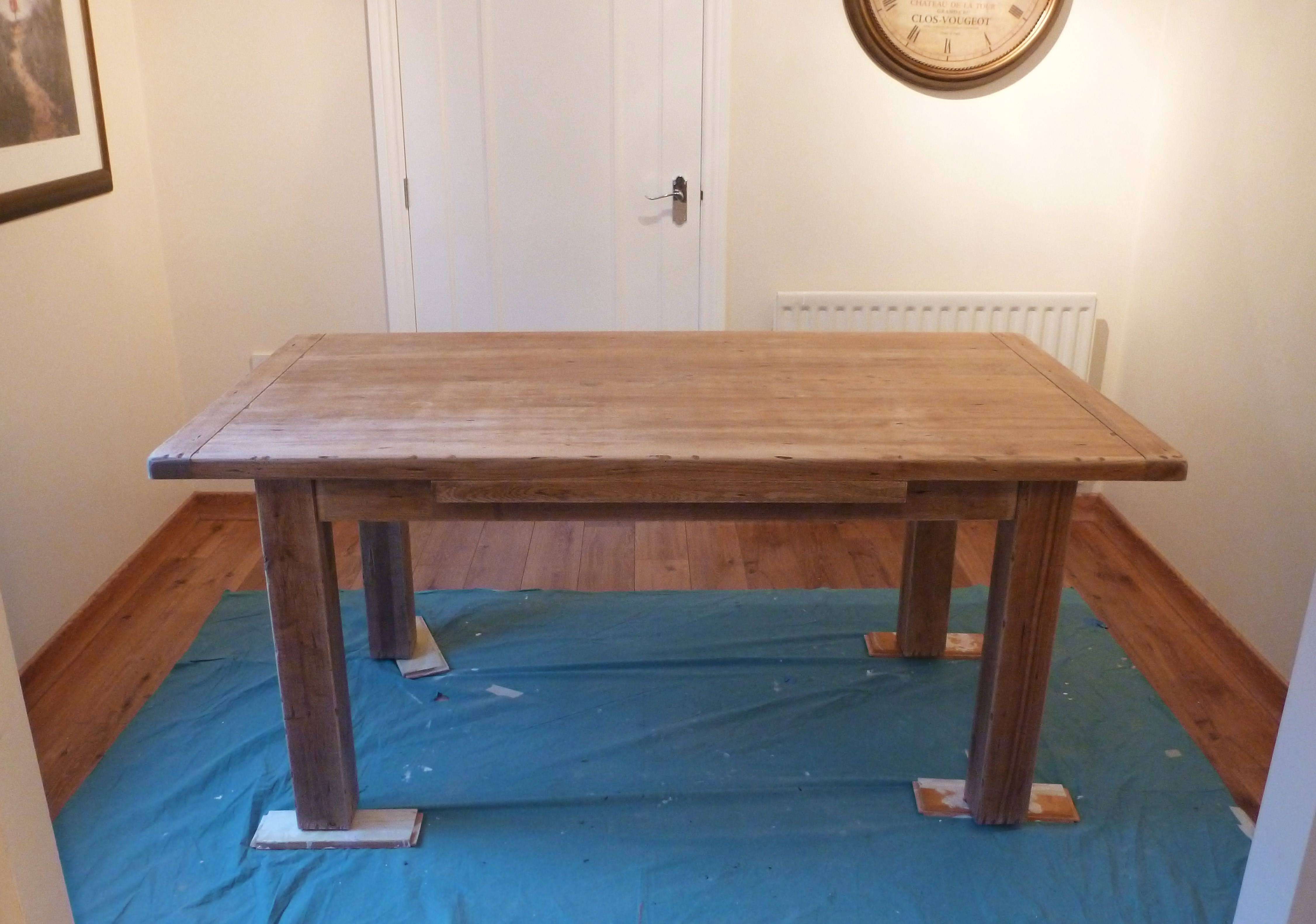 Hand Painted Oak Kitchen Table And Chairs Pontefract – Blog By Lee . Full resolution  picture, nominally Width 4506 Height 3165 pixels, picture with #306E9B.