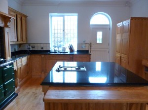 The kitchen before it was hand painted