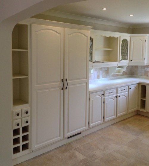 mahogany kitchen after painting