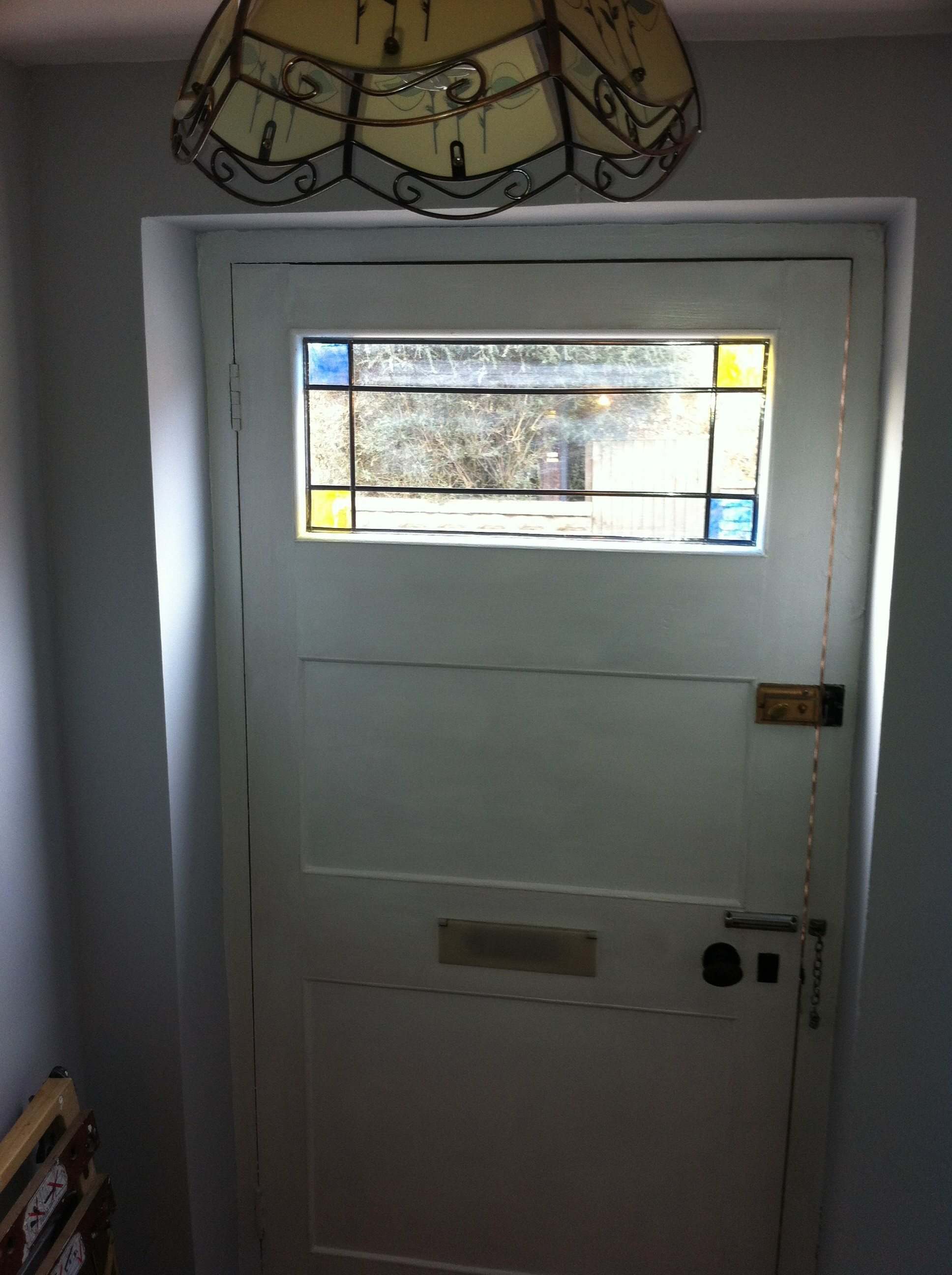 Gloss Paint A Front Door And Add Stained Glass