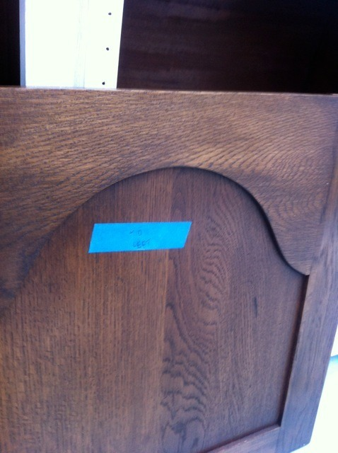 label a kitchen door before painting