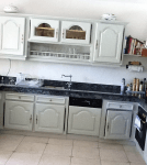 hand painted kitchen using Farrow and Ball
