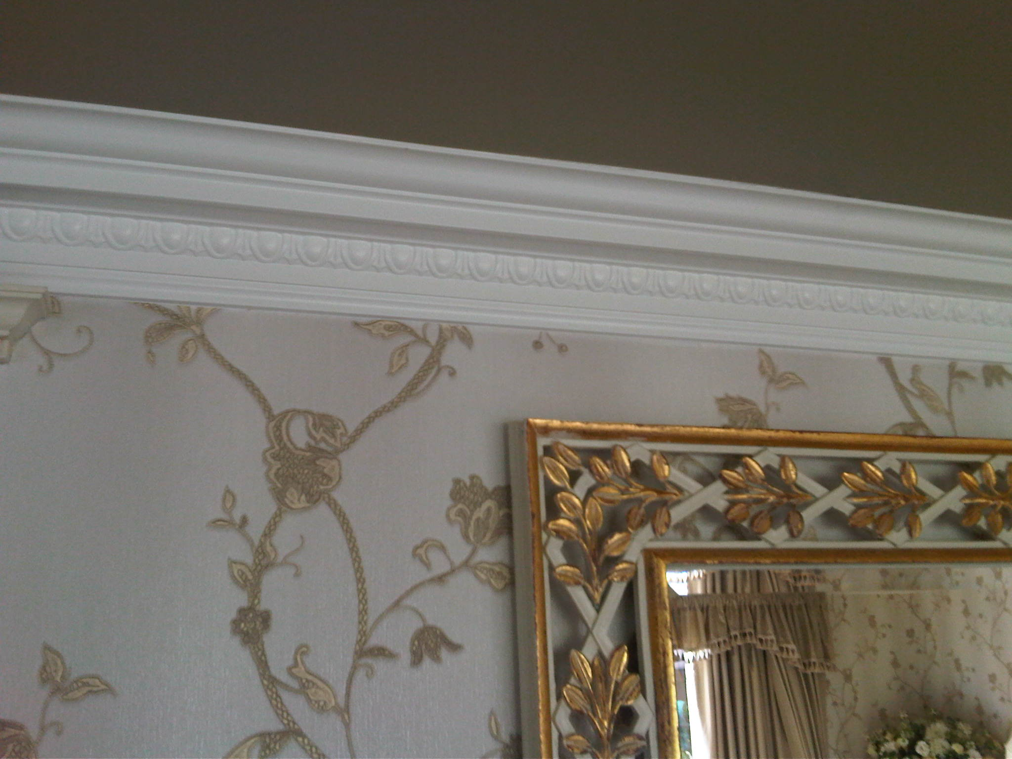 Ornate cornice and frames
