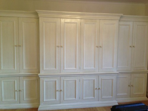 dragged and varnished Smallbones painted wardrobe