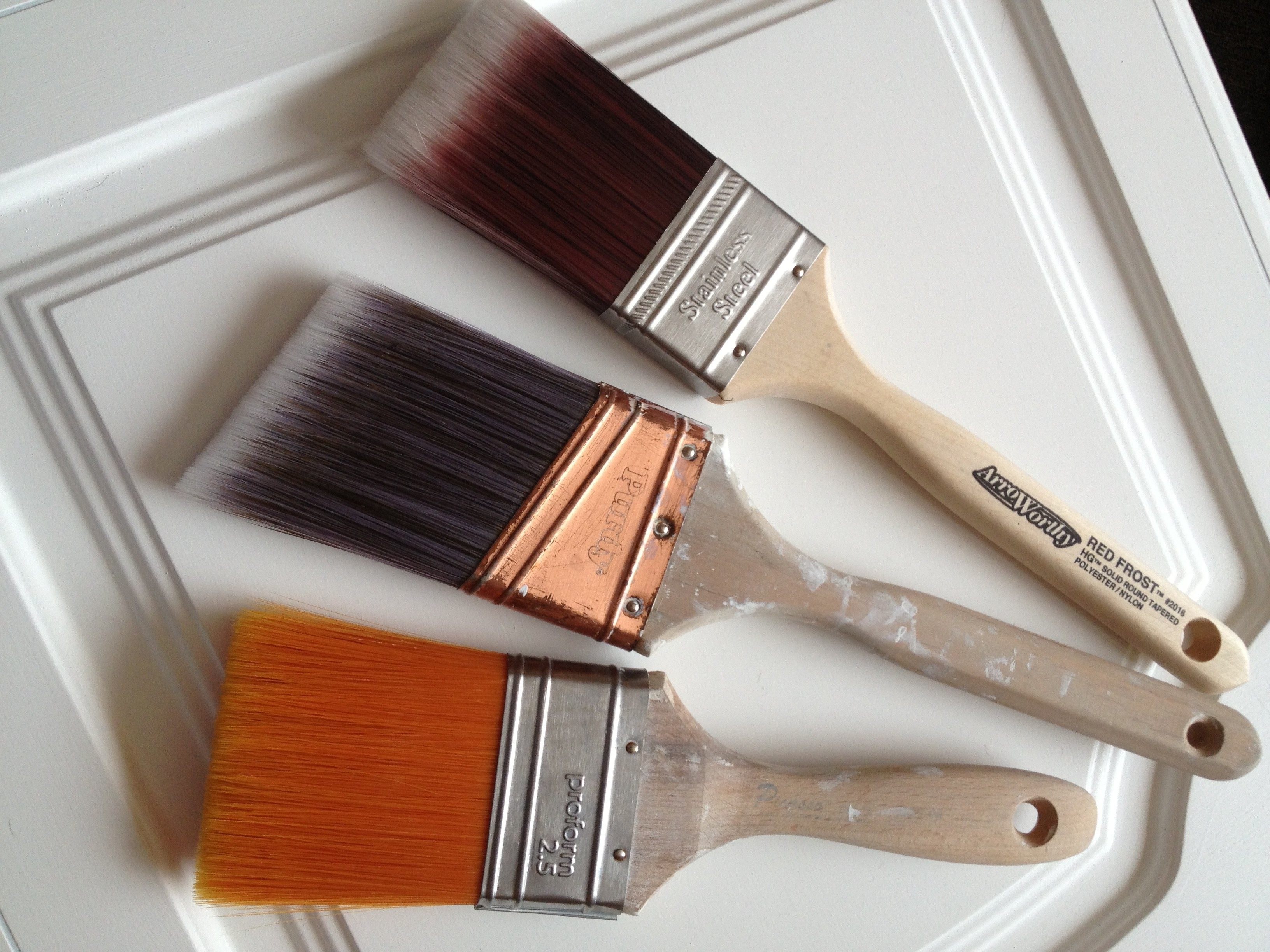 Best brushes for painting kitchen cabinets traditional for Best brush for painting cabinets