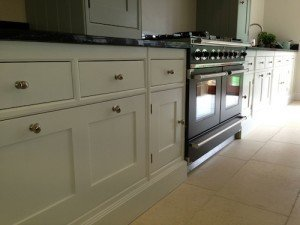 hand painted reclaimed Mark Wilkinson kitchen