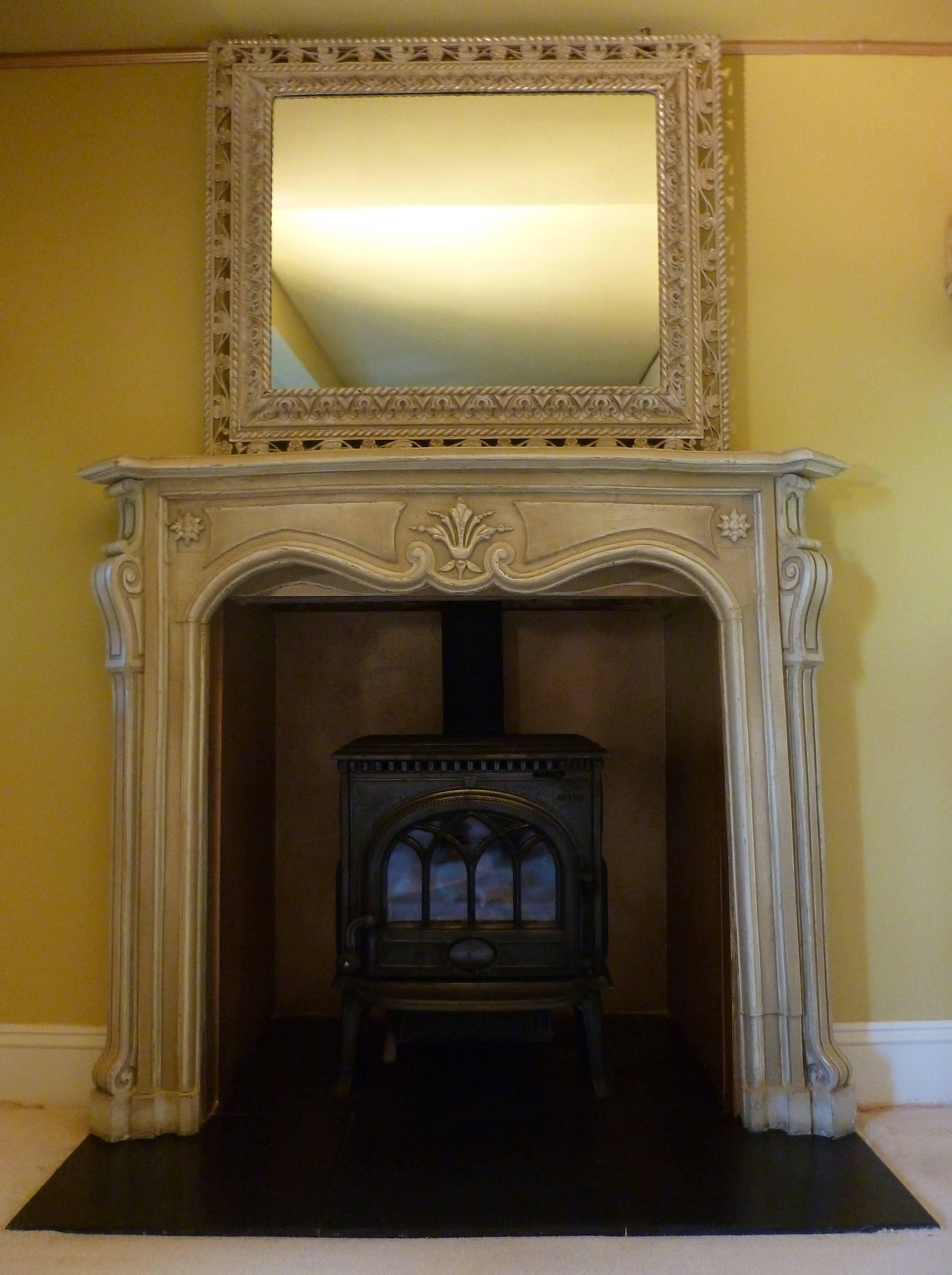 how to shabby chic a fireplace and gold paint effect by lee simone