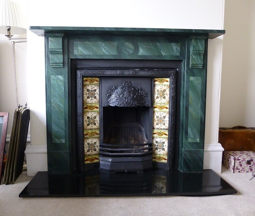 Dom Marble 2 Copy Painted Faux Fireplace Doncaster