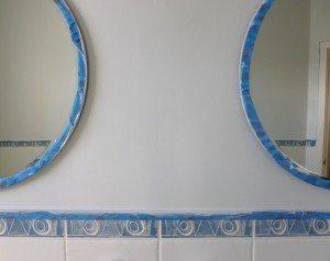 Base coat - three coats of Glidden Acrylic Eggshell for Paint Effect on Walls