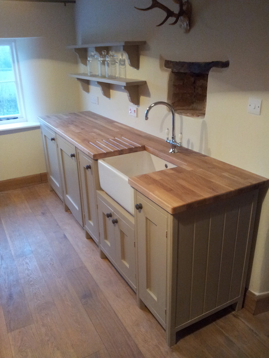 hand painted kitchen Cornwall