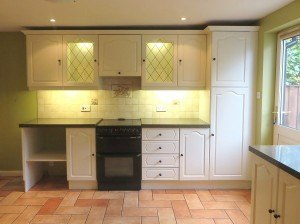 The completed hand painted kitchen