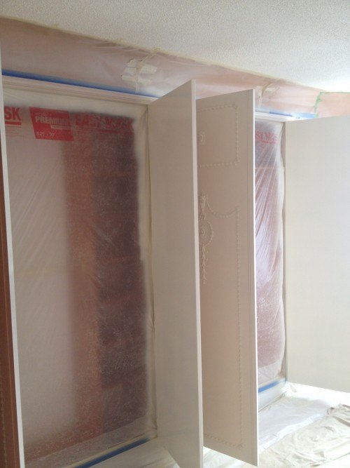 masking mdf wardrobes for spraying