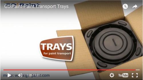 Trays for paint transport
