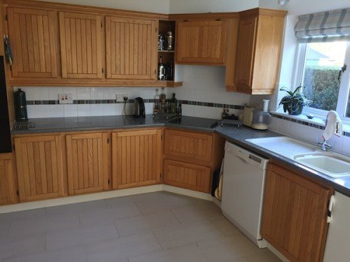 Acton Suffolk painted oak kitchen before