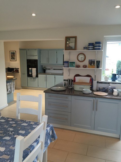 Acton Suffolk painted dining room furniture- kitchen painted to match