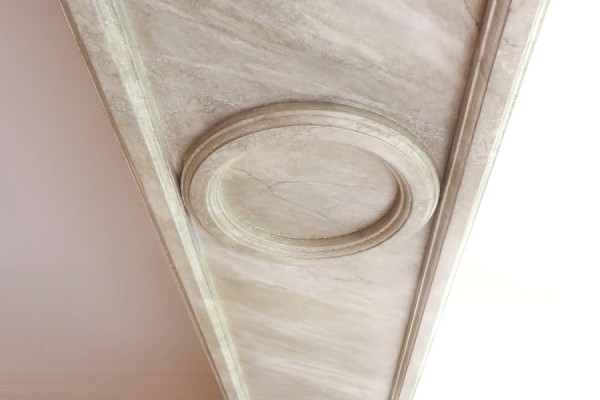 marbled pilaster