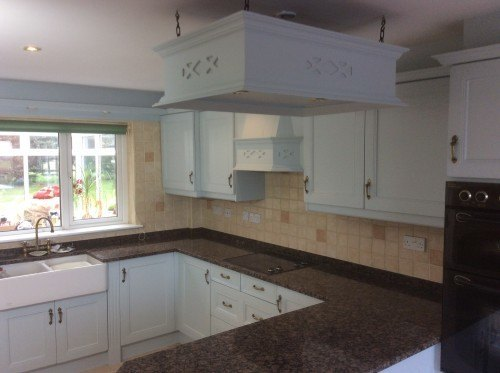 painted oak kitchen shropshire