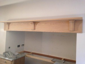 Paint a bespoke oak kitchen in North Wales