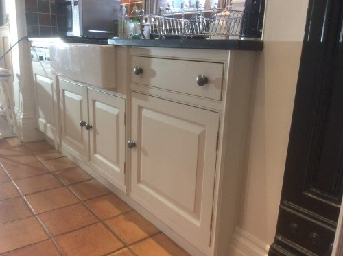 bespoke kitchen repainted in North Wales