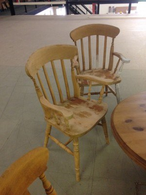 pine kitchen chairs and table in Warrington