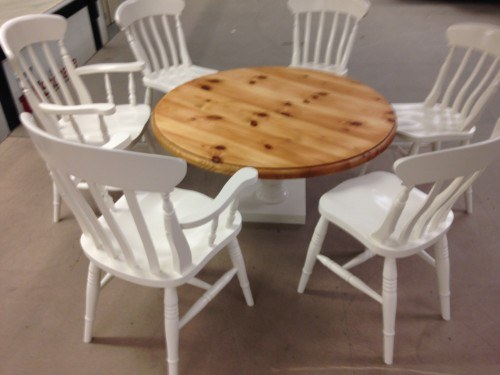painted kitchen chairs and table Warrington