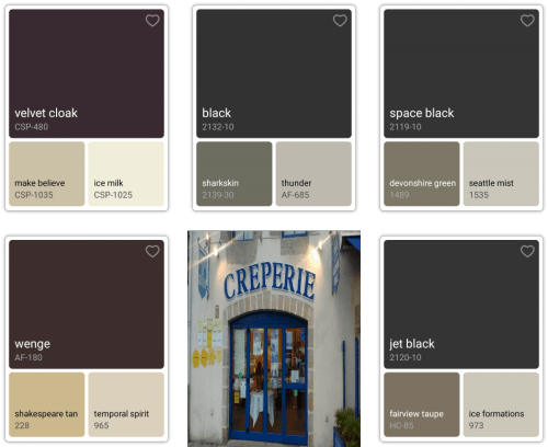 colour palettes with benjamin moore colour app summary