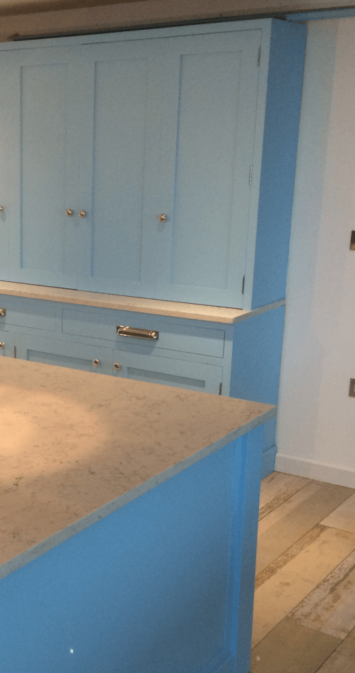Devon blue cupboard painted