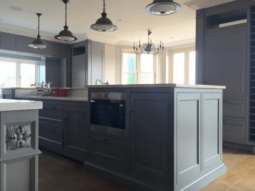 hand painted kitchen in Suffolk Woodbridge