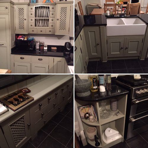 refurbish a painted wooden kitchen in Kent - before