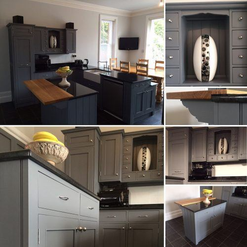 refurbish a painted wooden kitchen in Kent - after