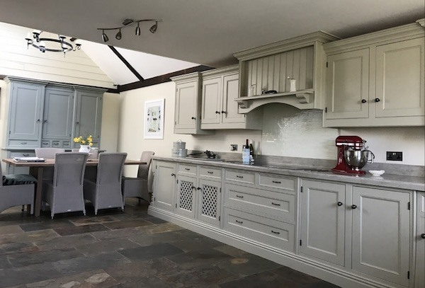 repaint a wooden kitchen shotesham