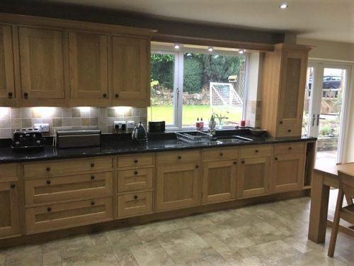 The original and dark looking kitchen