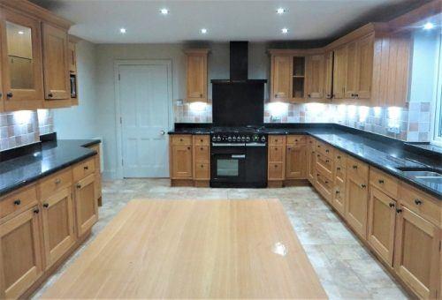 The original unpainted kitchen
