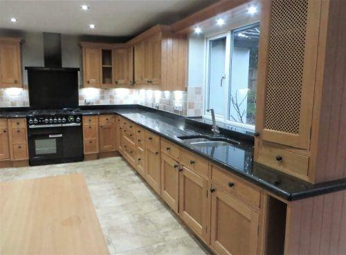 The original unpainted oak kitchen in Collingham