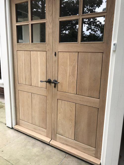 restoring oak doors sanded