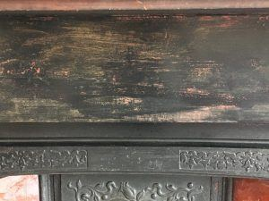 Painted wooden mantel piece