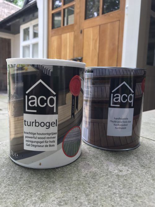 lacq turbogel and hardwood oil