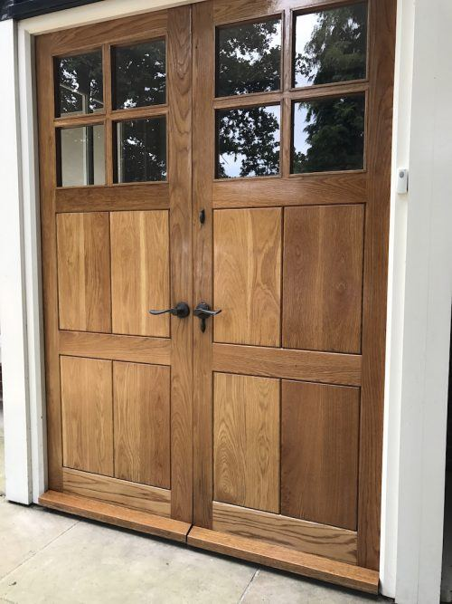 restoring oak doors oiled with Lacq
