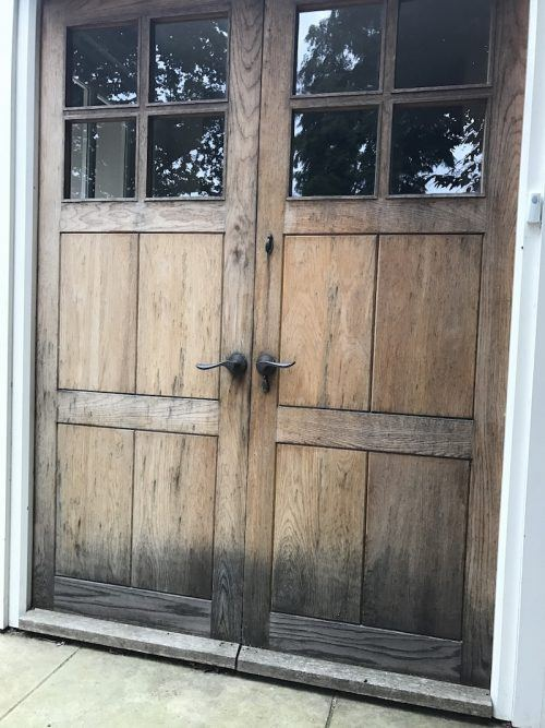 weathered oak doors