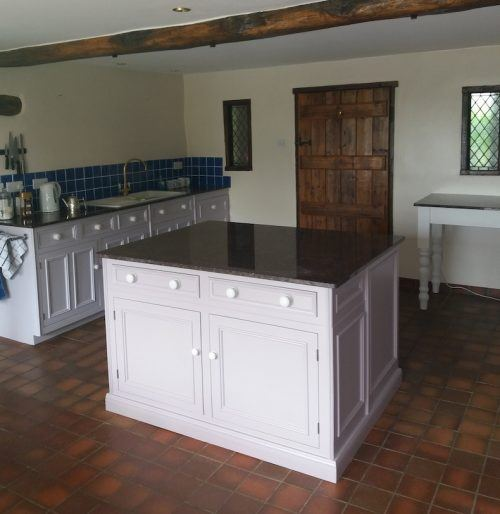 danish oil kitchen Northampton after painting