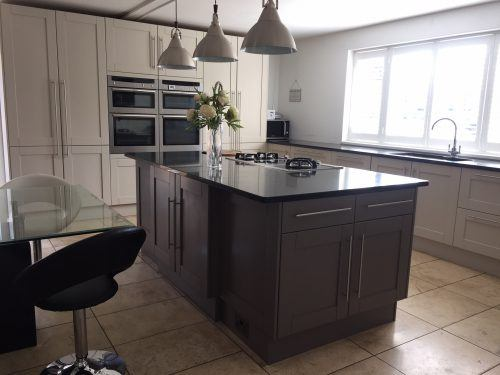 painted kitchen in Kent