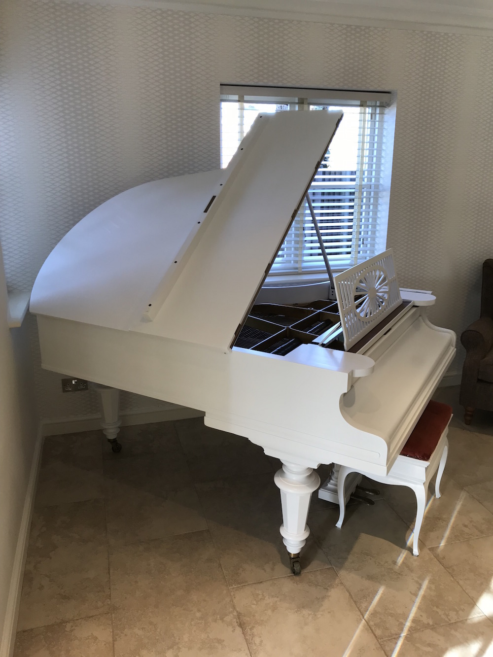 painted grand piano Midlands
