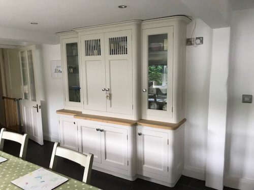 Benjamin Moore paint on this Hand painted kitchen in Tattenhall Cheshire