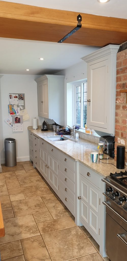 finished effect on a wooden Chalon kitchen